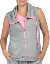 PL MOVEMENT BY PINK LOTUS PL Movement by Pink Lotus Sleeveless Hooded Cozy Jacket