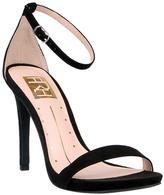 Fahrenheit Black Lilith Ankle-Strap Sandal