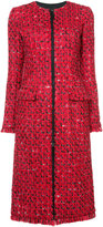 Oscar de la Renta zip front tweed coat