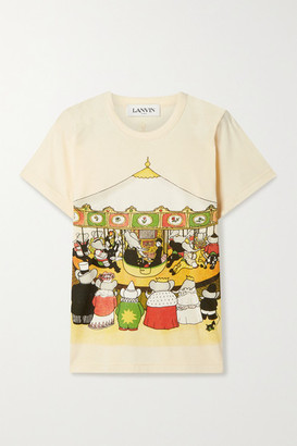 Lanvin + Babar Printed Cotton-jersey T-shirt