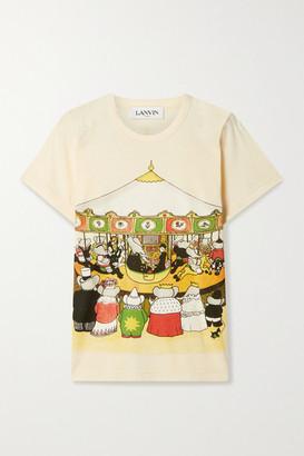 Lanvin + Babar Printed Cotton-jersey T-shirt - Beige