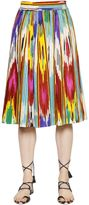Etro Printed Cotton Poplin Midi Skirt