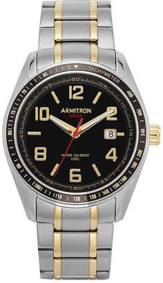 Armitron All Sport Mens Two Tone Stainless Steel Bracelet Watch-20/5252bktt