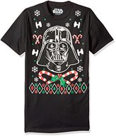 Star Wars Men's Vader Candy Canes Christmas Tee