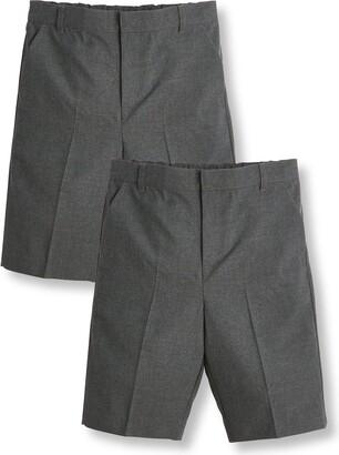 Very Boys 2 Pack SchoolShorts - Grey