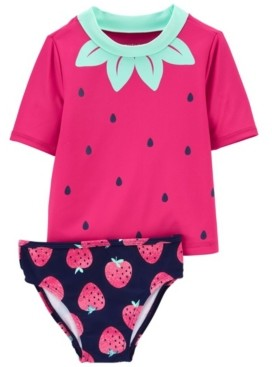 Carter's Baby Girl Strawberry Rashguard Set