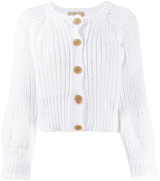 Maison Flaneur Chunky Knit Cropped Cardigan