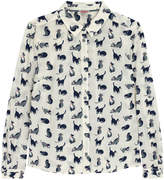 Cath Kidston Small Painted Cats Shirt