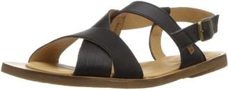 El Naturalista Women's N5181 Dolce Black/Tulip Flat Sandal 36 Medium EU (6 US)