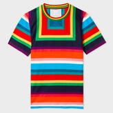 Paul Smith Men's Multi-Colour Mesh Stripe T-Shirt