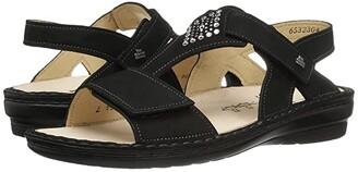 Finn Comfort Calvia (Black Nubuck) Women's Sandals