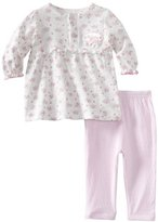 Rene Rofe Baby-girls Newborn Precious Rosette 2 Piece Dress and Legging Set