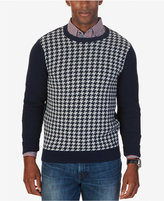 Nautica Men's Colorblocked Houndstooth Sweater, Only at Macy's