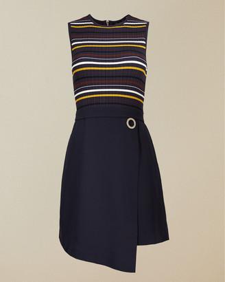 Ted Baker ANJELIX Stripe knitted mockable dress