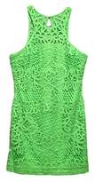 Lilly Pulitzer Women's Jaimie Shift Dress New Green Knit Crochet PA Dress LG