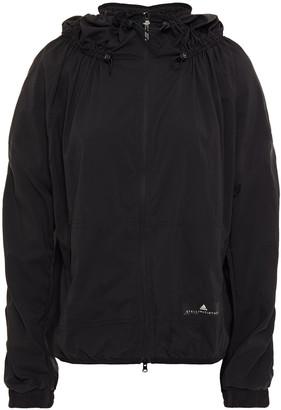 adidas by Stella McCartney Shirred Shell Hooded Jacket