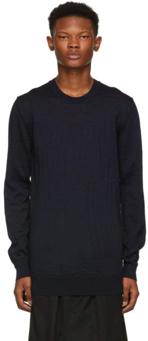 Comme des Garcons Navy Wool Sweater