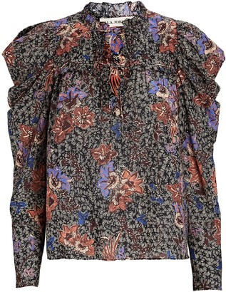 Ulla Johnson Remy Puff Sleeve Floral Blouse