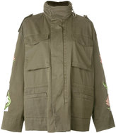 Off-White flower print military jacket - women - Cotton/Polyester - XS