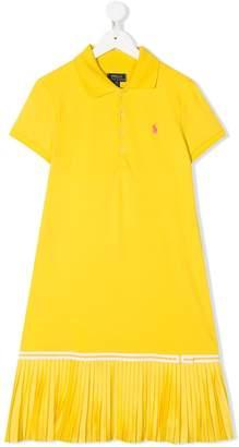 Ralph Lauren Kids TEEN pleated hem polo dress