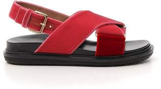 Marni Crossover Ankle Strap Sandals