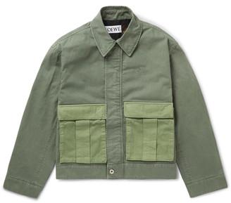 Loewe + Paula's Ibiza Colour-Block Logo-Embroidered Cotton Jacket