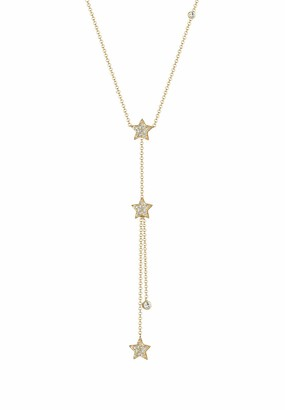 Elli Women's 925 Sterling Silver Gold Star Pendants Y-Shaped Necklace - 45cm length