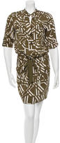 Diane von Furstenberg Abstract Printed Mini Dress