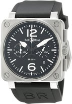 Bell & Ross Men's BR03-94STEEL Aviation Rubber Strap Dial Watch