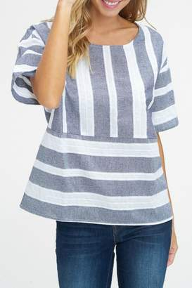 Listicle Wide Stripe Top