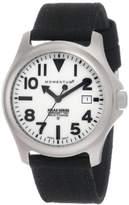 Momentum Men's 1M-SP00W6B Atlas White Dial Black Cordura Watch