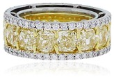 Platinum & 18K Yellow Gold Yellow Diamond Eternity Band