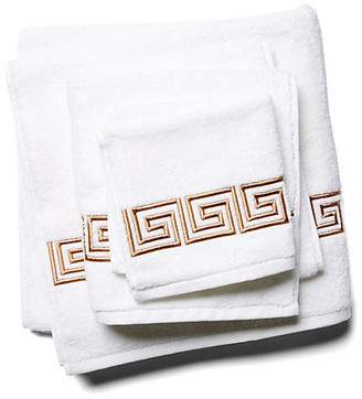 Hamburg House 3-Pc Greek Key Towel Set - Tan