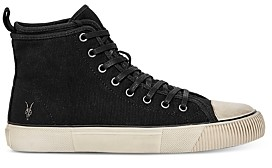 AllSaints Men's Rigg Embroidered High-Top Sneakers