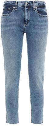 Rag & Bone Cate Cropped Frayed High-rise Skinny Jeans