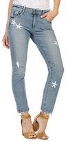 Paige Brigitte Embellished Cropped Straight-Leg Jeans