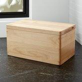 Crate & Barrel Carter Wood Bread Box
