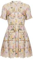 Zimmermann Valour hydrangea-print cotton dress