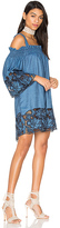 KENDALL + KYLIE Embroidered Dress in Blue. - size M (also in S,XS)