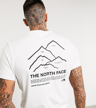 The North Face Peaks t-shirt in white Exclusive at ASOS