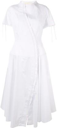 aganovich flared shirt dress