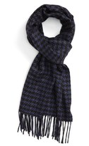 Canali Men's Houndstooth Silk & Cashmere Scarf