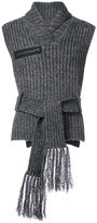 Craig Green tie waist ribbed sweater vest