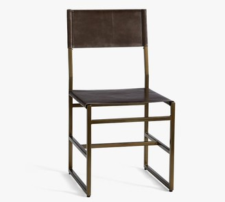 Pottery Barn Hardy Leather Dining Chair