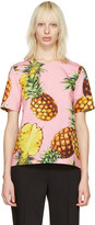Dolce & Gabbana Pink Pineapple Blouse