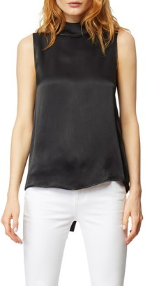 Habitual Arika Sleeveless Mock Neck Satin Top