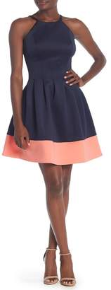 Vince Camuto High Neck Scuba Dress (Regular & Plus Size)