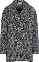 Carven Oversized printed wool-blend felt coat