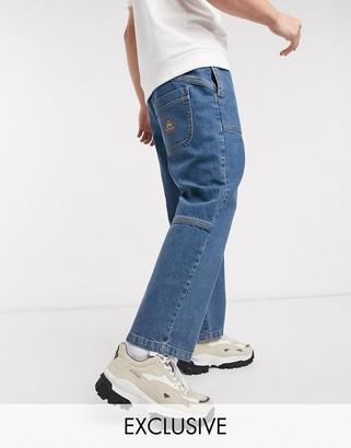 Reclaimed Vintage inspired skater jean in mid wash blue