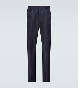 Dries Van Noten Pleated pinstriped pants